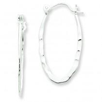 Hammered Hoop Earrings in Sterling Silver