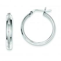 Rhodiumhoop Earrings in Sterling Silver
