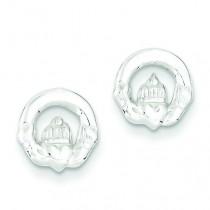 Claddagh Mini Earringss in Sterling Silver