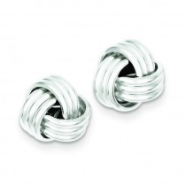 Twisted Knot Post Earrings in Sterling Silver