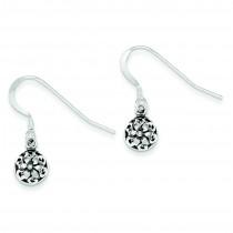 Antiqued Dangle Earrings in Sterling Silver