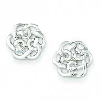 Celtic Knot Post Earrings in Sterling Silver