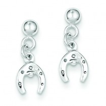 Horseshoe Post Earrings in Sterling Silver