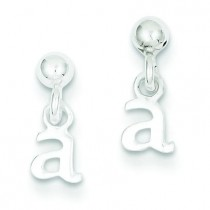 A Dangle Post Earrings in Sterling Silver