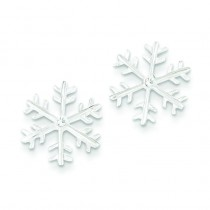 CZ Snowflake Post Earrings in Sterling Silver