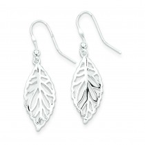 Leaf Dangle Earrings in Sterling Silver