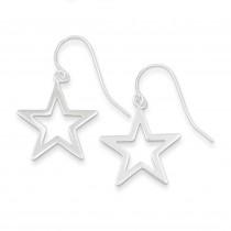 Star Dangle Earrings in Sterling Silver