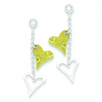 Vermil Textured Heart Post Earrings in Sterling Silver