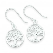 Filigree Tree Dangle Earrings in Sterling Silver