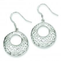 Poinsettia Dangle Earrings in Sterling Silver