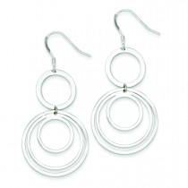 Circle Fancy Dangle Earrings in Sterling Silver