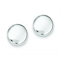 Button Post Earrings in Sterling Silver