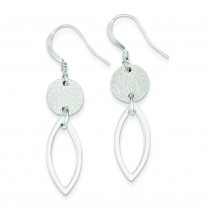 Textured Fancy Dangle Earrings in Sterling Silver