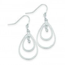 Double Teardrop Dangle Earrings in Sterling Silver