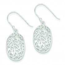 Filigree Dangle Earrings in Sterling Silver