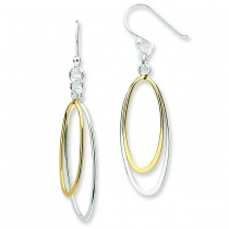 Dangling Double Oval Earrings in Sterling Silver