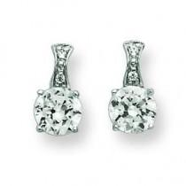 CZ Earrings in Sterling Silver