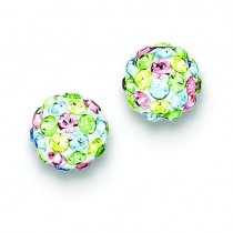 Multicolor Swarovski Crystal Post Earrings in Sterling Silver