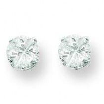 Round Prong CZ Stud Earrings in Sterling Silver
