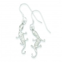 Lizard Earrings in Sterling Silver