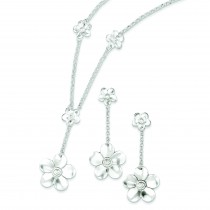 Necklace And Earrings Set in Sterling Silver