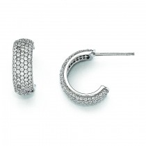 CZ Huggy Earrings in Sterling Silver