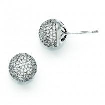 CZ Brilliant Embers Post Earrings in Sterling Silver