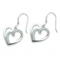 CZ Soul mate Earrings in Sterling Silver