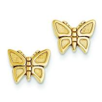 Butterfly Post Earrings in 14k Yellow Gold