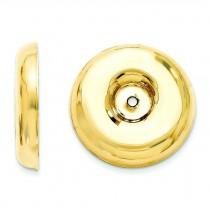 Round Fancy Earrings Jackets in 14k Yellow Gold