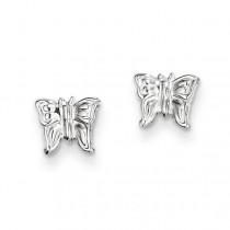 Butterfly Earrings in 14k White Gold