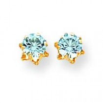 Aquamarine Mar Earrings in 14k Yellow Gold