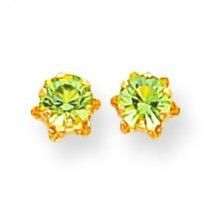 Peridot Aug Earrings in 14k Yellow Gold