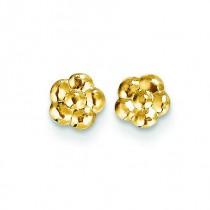 Flower Post Earrings in 14k Yellow Gold