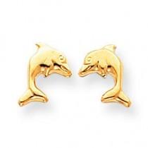 Dolphin Earrings in 14k Yellow Gold