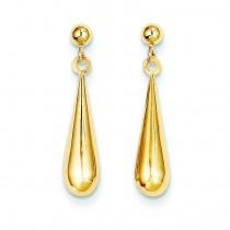 Tear Drop Dangle Earrings in 14k Yellow Gold