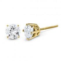 Diamond Stud Earrings in 14k White Gold