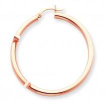 Hoop Earrings in 14k Rose Gold