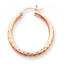 Diamond Cut Hoop in 14k Rose Gold