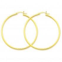 Square Tube Hoop Earrings in 14k Yellow Gold