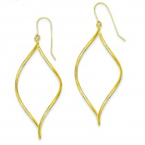 Swirl Drop Earrings in 14k Yellow Gold