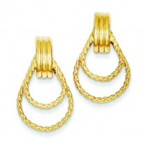 Twisted Fancy Post Earrings in 14k Yellow Gold