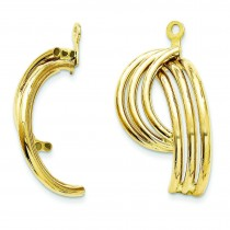 Fancy Earrings Jackets in 14k Yellow Gold