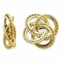 Twisted Fancy Earrings Jackets in 14k Yellow Gold