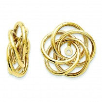 Love Knot Earrings Jackets in 14k Yellow Gold