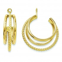 Twisted Triple Hoop Earrings Jackets in 14k Yellow Gold