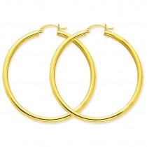 Round Hoop Earrings in 14k Yellow Gold