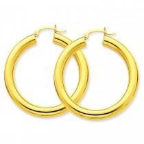 Tube Hoop Earrings in 14k Yellow Gold