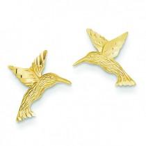 Hummingbird Earrings in 14k Yellow Gold