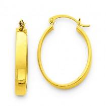 Lightweight Oval Hoop Earrings in 14k Yellow Gold